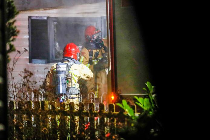 Brand in chalet op camping Heezerenbosch