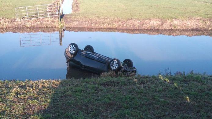 Het ongeluk gebeurde ter hoogte van Benschop.