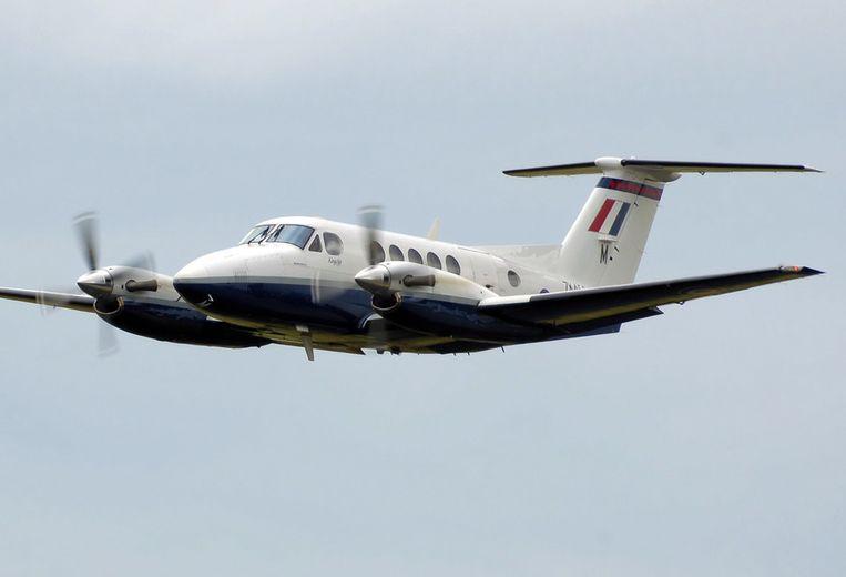 Een Beechcraft Super King Air, gelijkaardig aan het gecrashte toestel.