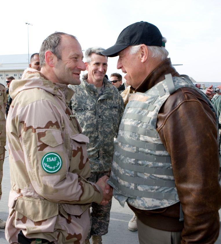 Met Joe Biden, van 2009 tot 2016 vice-president van de Verenigde Staten.  Beeld