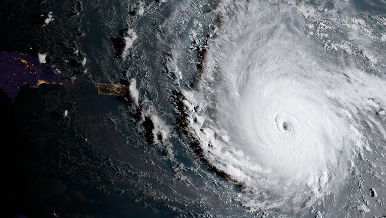 Orkaan Irma, gefotografeerd vanuit de ruimte.