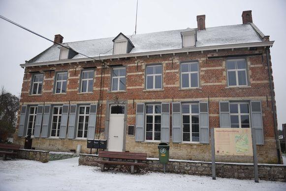 De Pastorie van Meerbeek kreeg een idyllisch laagje sneeuw.