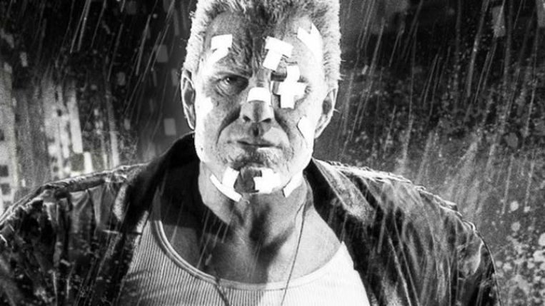 Mickey Rourke in Sin City. Beeld