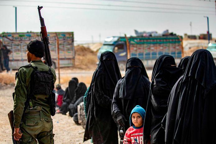 Vrouwen en kinderen in het kamp van al-Hol in Syrië.