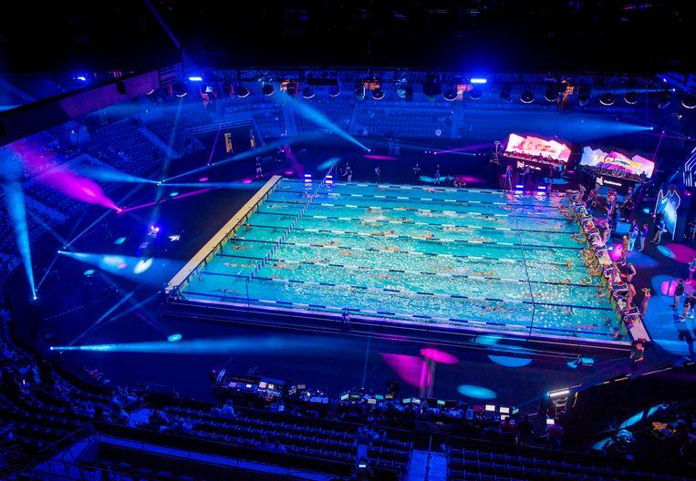 Het zwembad in het Mandalay Bay Hotel in Las Vegas. Beeld AFP