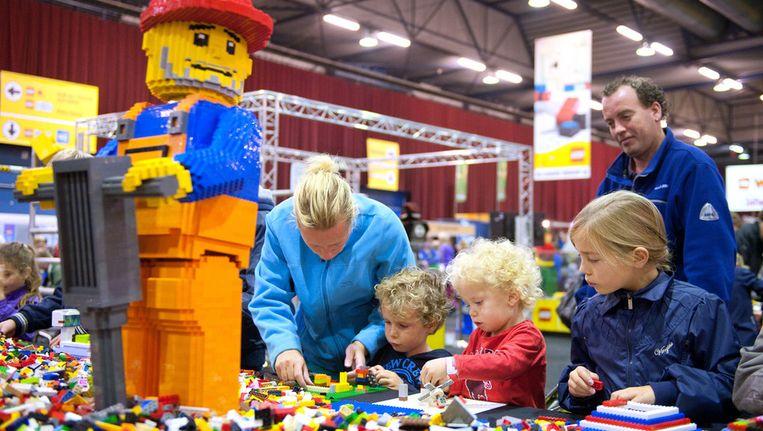 Kinderen bij Legoworld in de IJsselhallen in Zwolle, in oktober Beeld ANP