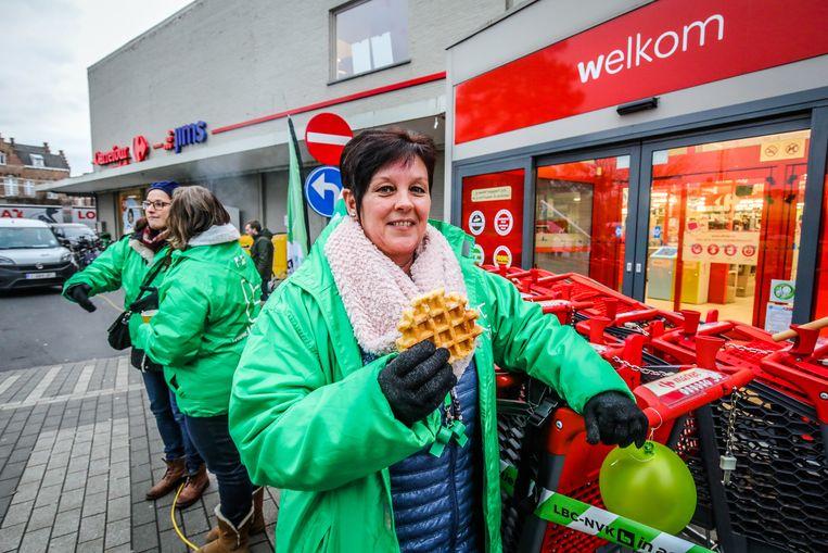 Brugge staking carrefour Scheepsdaele: wafelenbak