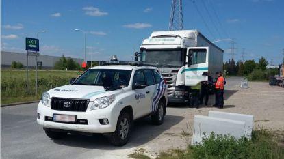 Controleactie op zwaar verkeer: 11 van de 14 vrachtwagens niet in orde