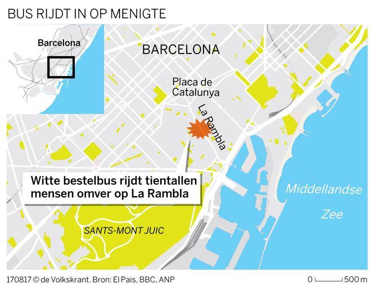 De plaats van de aanslag. Beeld Volkskrant