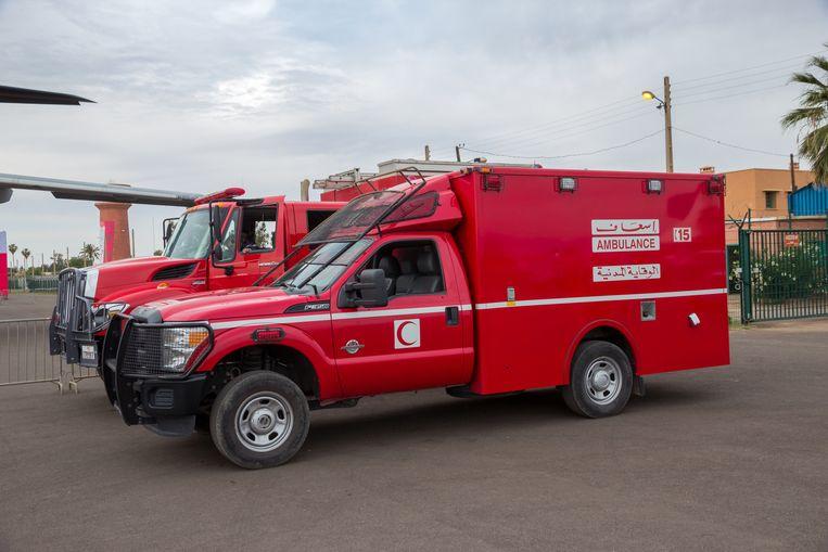 Marokkaanse ziekenwagen ter illustratie.