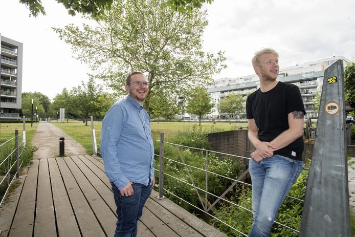 Niek Straatman (rechts) en Michel de Jong.
