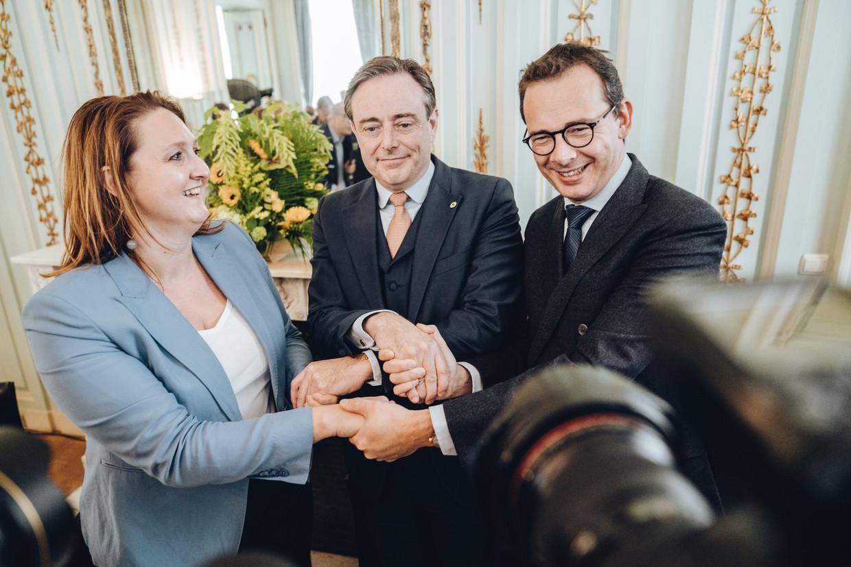 Gwendolyn Rutten, Bart De Wever en Wouter Beke.