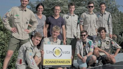 Scouts Heirbrug installeert zonnepanelen op lokalen