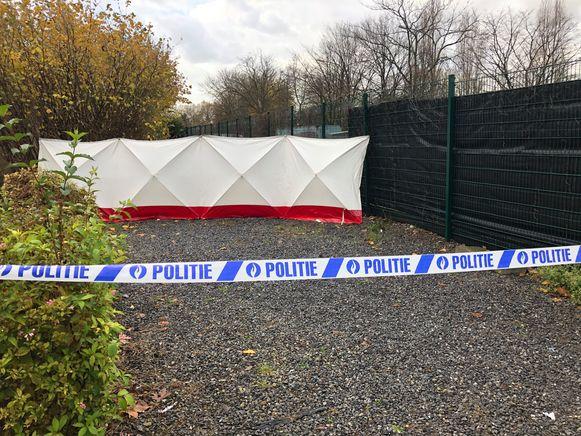 Het lichaam werd gevonden aan Colruyt Merksem.