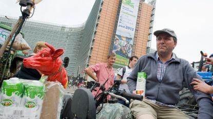 200 boeren betogen in de Europese wijk
