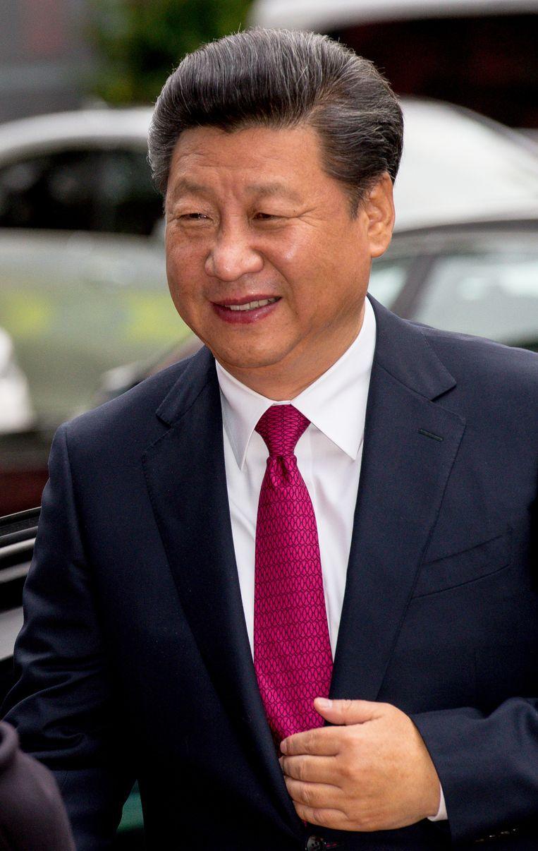 De Chinese president Xi Jinping. Beeld getty