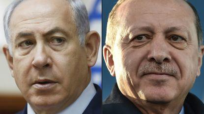 """Erdogan en Netanyahu in bitse woordenstrijd verwikkeld: """"Israël is meest racistische staat ter wereld"""""""