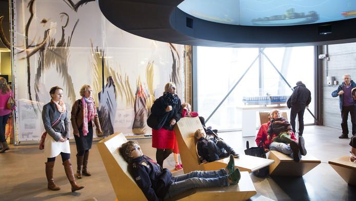 Het haveninformatiecentrum Futureland trekt jaarlijks 110.000 bezoekers.