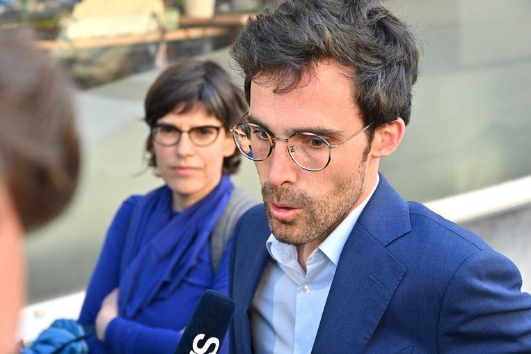"""Kristof Calvo bij het partijbureau van Groen vanmorgen: """"Ik geef toe dat ik gehoopt had op meer."""""""