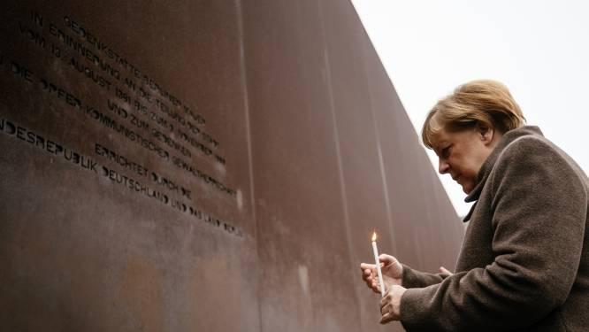 """Merkel roept op tot """"vrijheid verdedigen, haat en racisme bestrijden"""" op herdenking val Berlijnse Muur"""