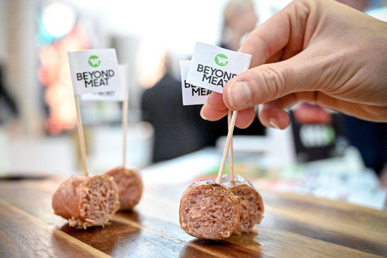 Vleesvrije 'worstjes' van Beyond Meat.