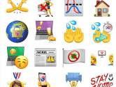Esther van Brakel uit Uden maakt emojis om mensen te wijzen op de corona-regels