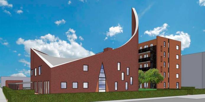 Een impressie van de nieuwe bestemming voor de Adelaarkerk