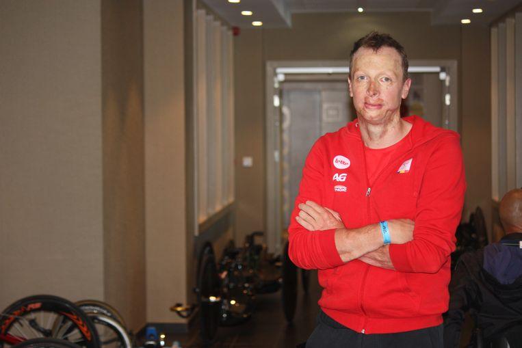 UCI Paracycling road world cup in Oostende. Diederick Schelfhout uit Aalst rijdt mee in de Belgische selectie