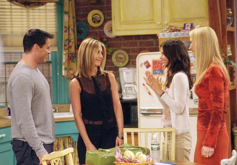 Matt LeBlanc als Joey Tribbiani, Jennifer Aniston als Rachel  Green, Courteney Cox Arquette als Monica Geller, Lisa Kudrow als Phoebe Buffay.
