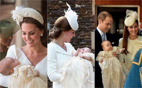 Mama Kate met Louis, Charlotte en George