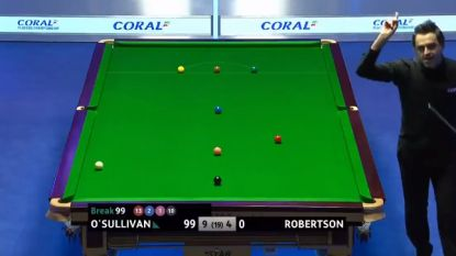 VIDEO. Nieuwe mijlpaal voor snookerfenomeen: Ronnie O'Sullivan pot duizendste century... linkshandig