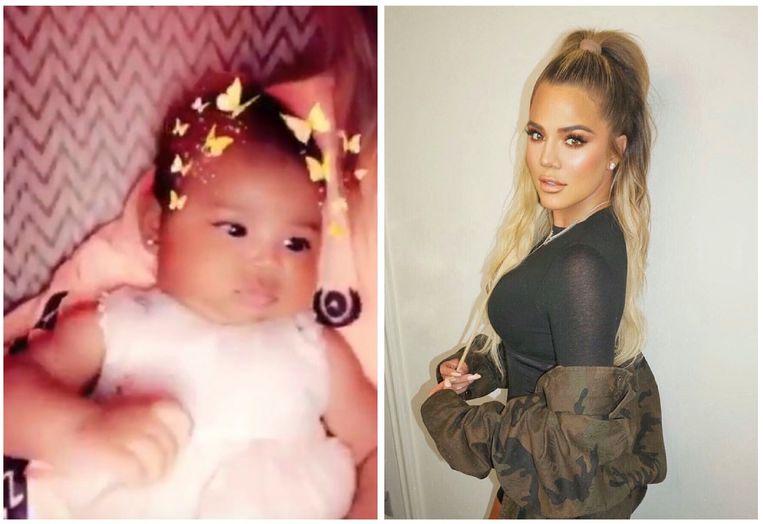 Khloé Kardashian liet oorbellen schieten bij haar baby, True.