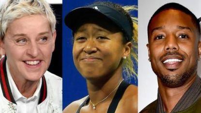 Giechelen mag: hoe talkshowhost Ellen DeGeneres niet afgeeft om tennisster Naomi Osaka te koppelen aan acteur Michael B. Jordan