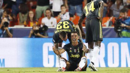 FOTO. Ronaldo druipt in tranen af na rode kaart en bezorgt Juventus twijfelachtig record