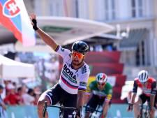 Sagan sprint naar zege en pakt leiderstrui in Zwitserland