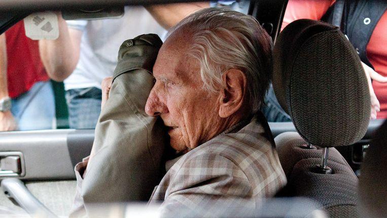 De 98-jarige Hongaar Laszlo Csatary werd vorige maand aangeklaagd Beeld ap