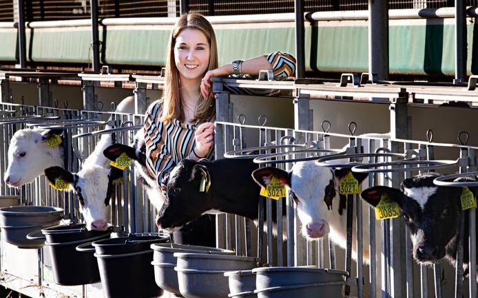 *Karin de Brouwer* jonge boerin uit Someren Heide