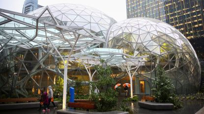 Hoe ziet jouw lunchplek eruit? Amazon heeft een regenwoud gebouwd voor zijn werknemers