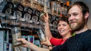 Verpakkingsarme winkel Bokaal met open armen ontvangen
