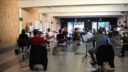 Eerste, en ook laatste, repetitie van het seizoen voor 't Muziek Herne