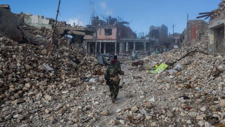 De slag om Sinjar, waar IS het vijftien maanden voor het zeggen had, heeft van de bebouwing weinig heel gelaten. Beeld Laurence Geai/Hollandse Hoogte