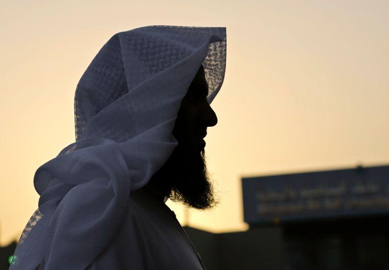Een voormalig islamitische militant in de achtertuin van het Mohammed bin Nayef Center in Riyadh. Beeld AP