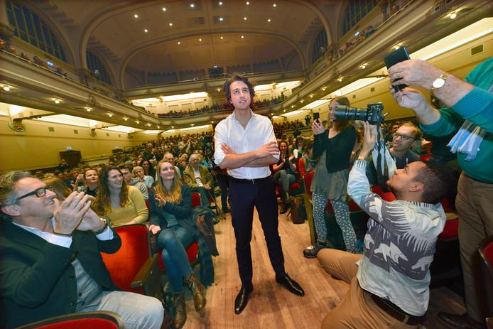 GroenLinks-voorman Jesse Klaver ontmoette was in januari 2017 ook al in De Vereeniging.