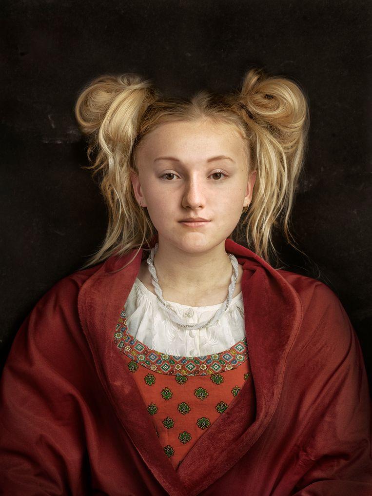 Anna van Kleef. Vierde vrouw van Henry VIII. Weggestuurd. Ze overleefde de vijf andere vrouwen en Henry zelf. Beeld Tessa Posthuma de Boer