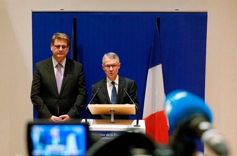 Procureur Jean-Francois Ricard van het antiterrorismeparket gaf vandaag uitleg tijdens een persconferentie.