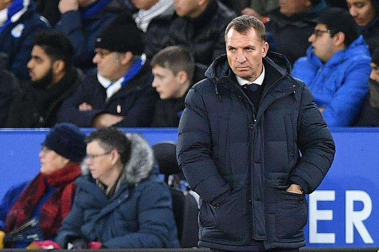 Leicester-coach Brendan Rodgers zette Tielemans afgelopen weekend op de bank
