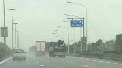 Pas als bij wet is vastgelegd wat 'regenweer' is, kunnen camera's inhalende truckers beboeten