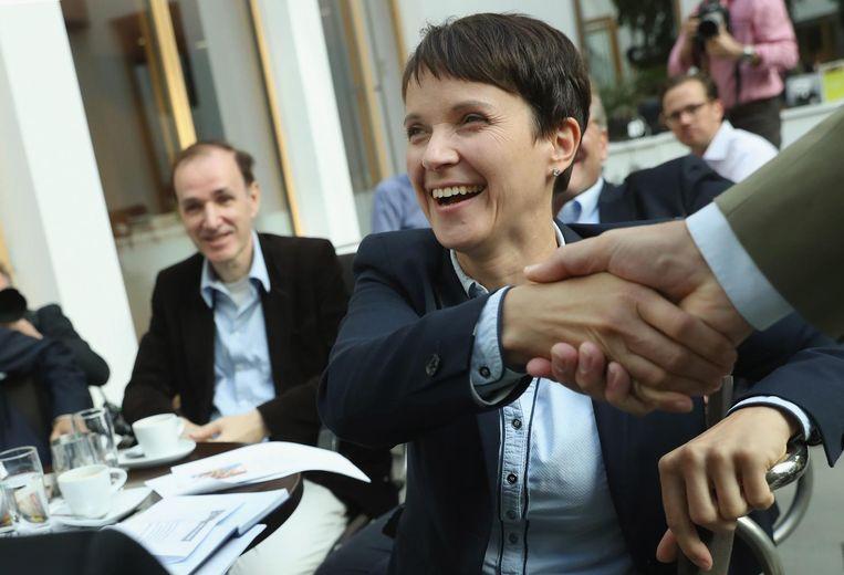 Frauke Petry, mede-oprichter van de partij Alternative für Deutschland (AfD. Beeld getty
