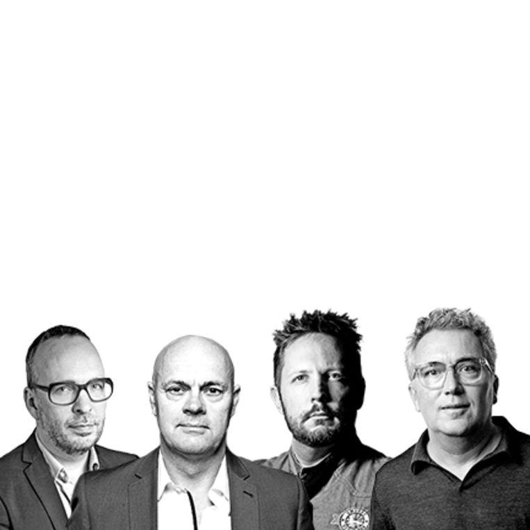 Van links naar rechts: Marcus Huibers, Jaap Korteweg, Jord Althuizen en Jan Paul de Wildt. Beeld Remko Kraaijeveld, Ivo van der Bent