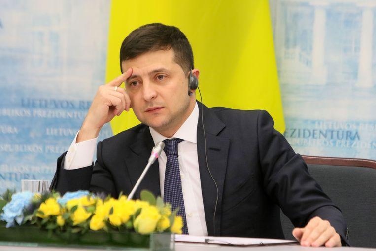 De Oekraïense president Volodymyr Zelenski.